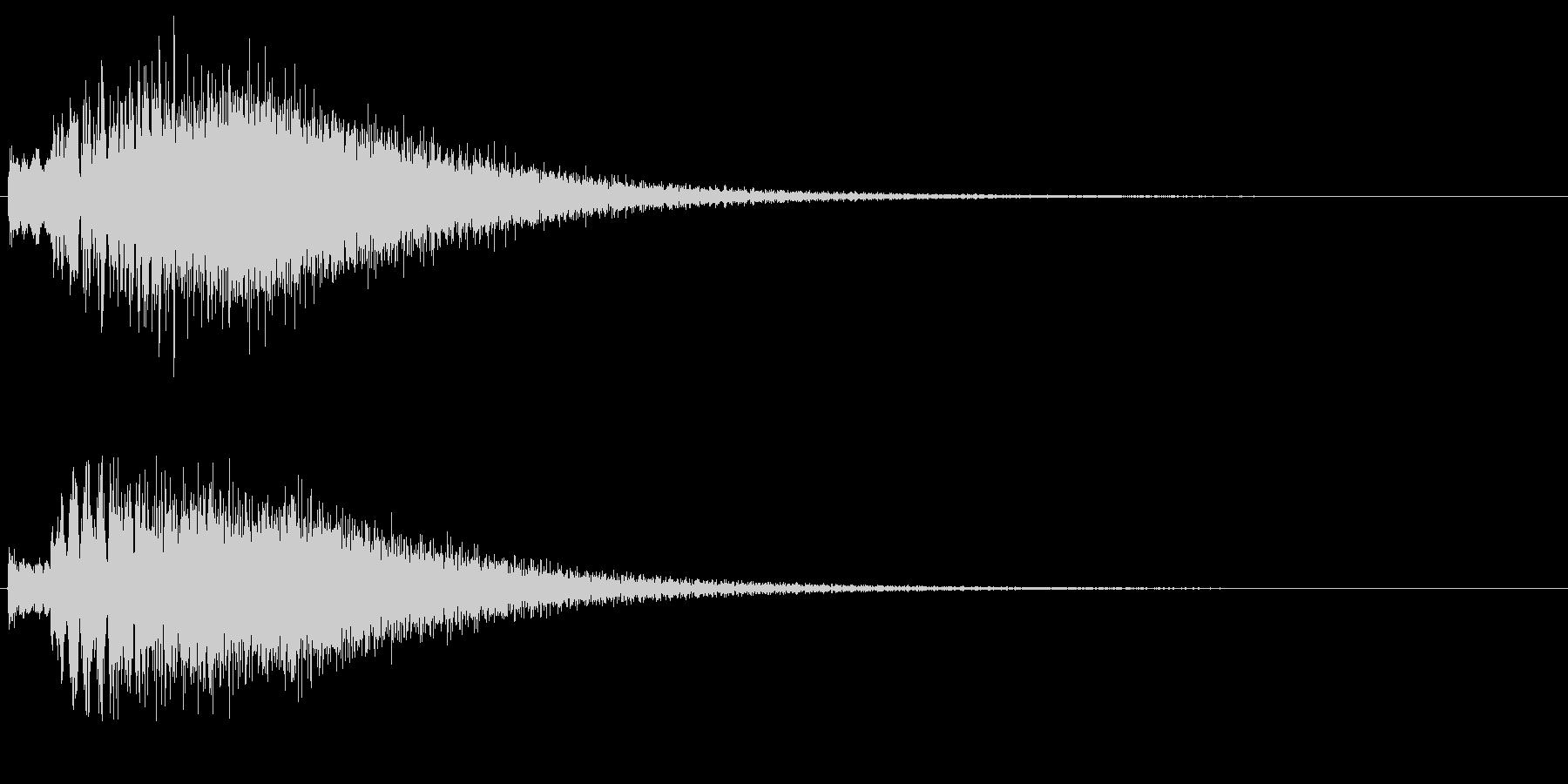 チェレスタの高音が綺麗なキラキラ上昇音の未再生の波形