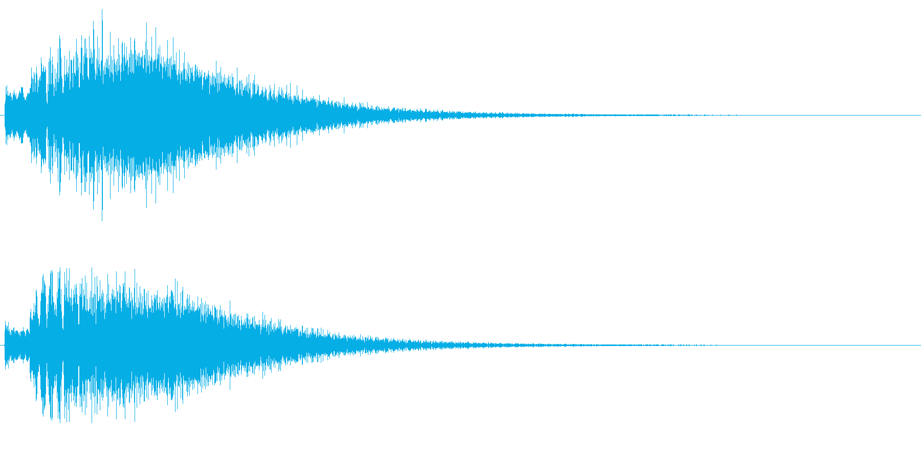 チェレスタの高音が綺麗なキラキラ上昇音の再生済みの波形