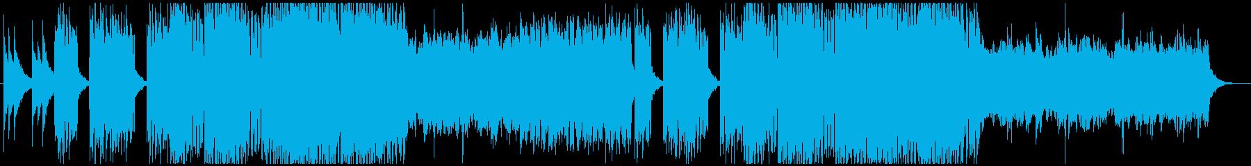 StylishなPOPトラックの再生済みの波形