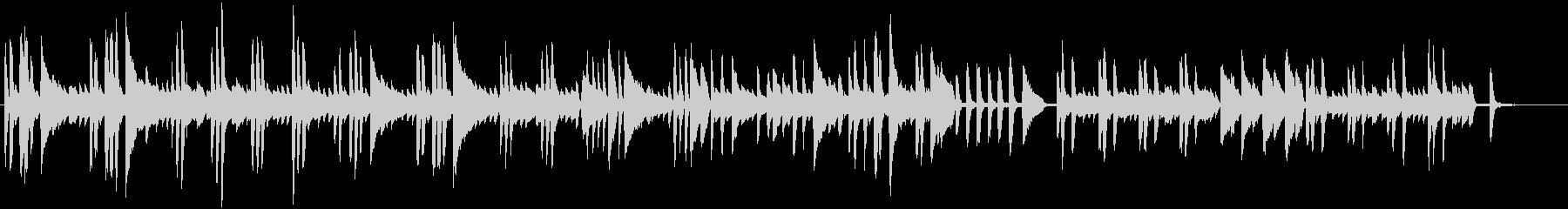 リズミカルなピアノBGMの未再生の波形