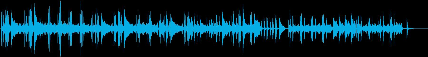 リズミカルなピアノBGMの再生済みの波形