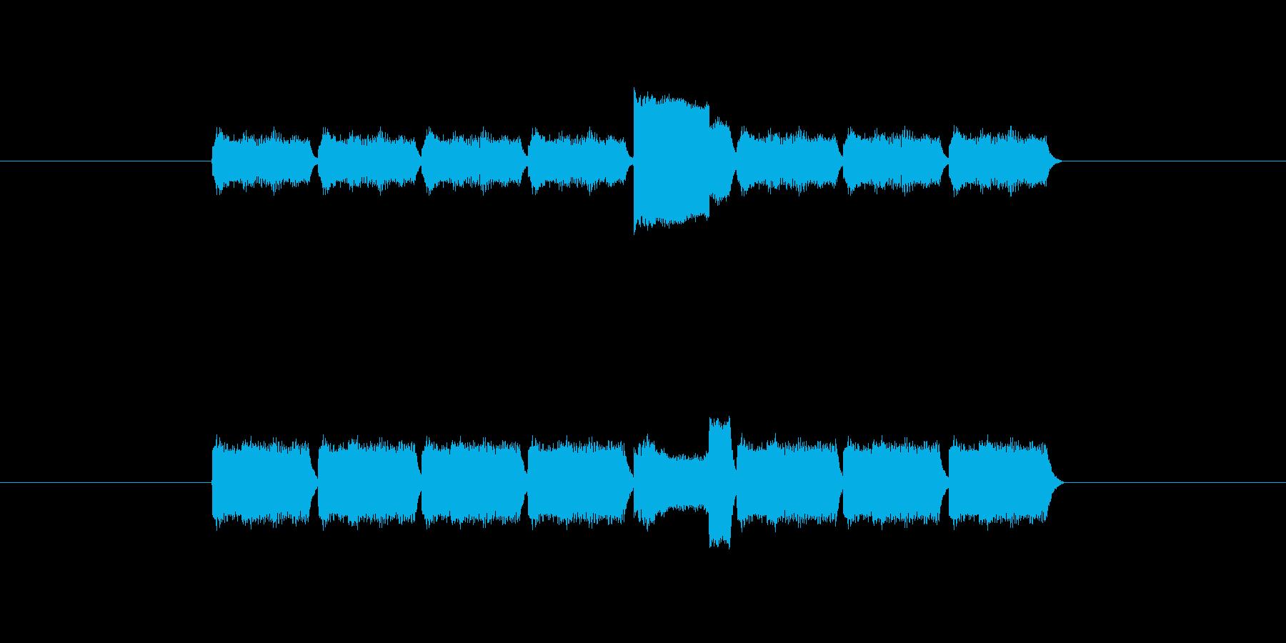 「8」を表す音のカウンターですの再生済みの波形