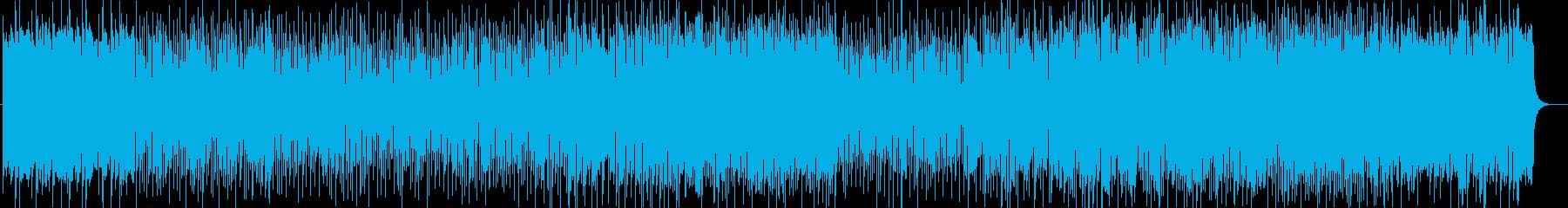 アップテンポで爽快感のあるリズムの再生済みの波形