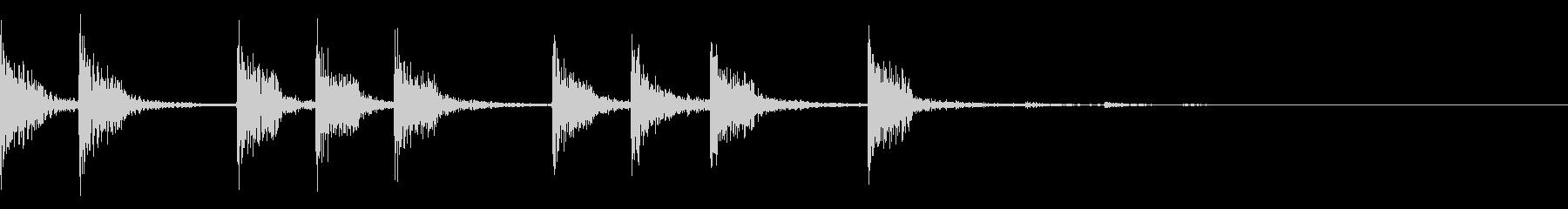 EDM等でおなじみのプラック系のジングルの未再生の波形