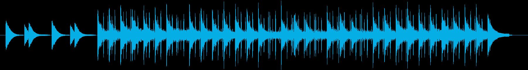 ピアノとベースによる神秘的で切ない曲の再生済みの波形