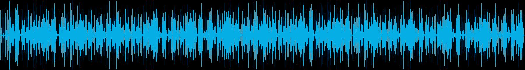 ループ可能なエレクトロ日常・雑談BGMの再生済みの波形
