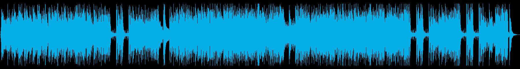 軽快なアコースティックフュージョンの再生済みの波形