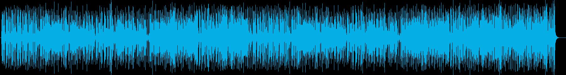 お洒落な風景のシンセサイザー楽曲の再生済みの波形