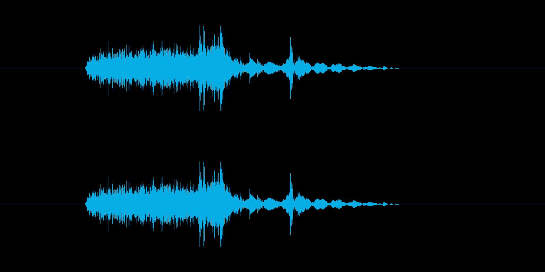 ペラッ、ペラリの再生済みの波形