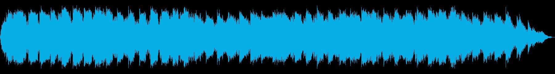 シンセサイザーとケーナの静かな音楽の再生済みの波形