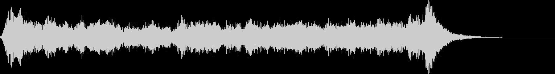 オーケストラ風ジングルの未再生の波形