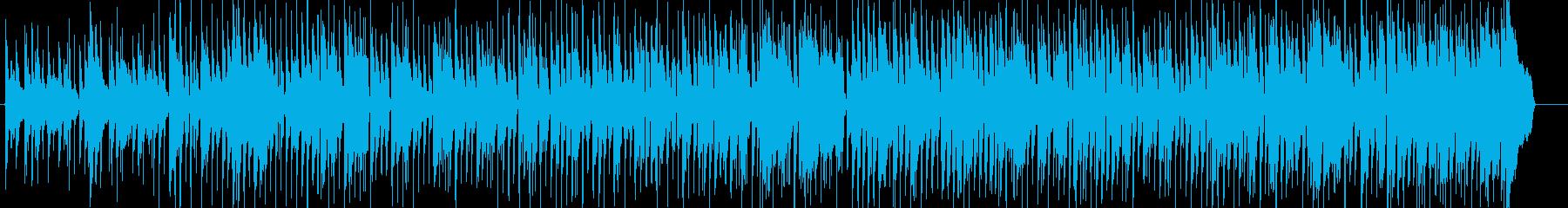 ブルースギターを用いたのんびりカントリーの再生済みの波形