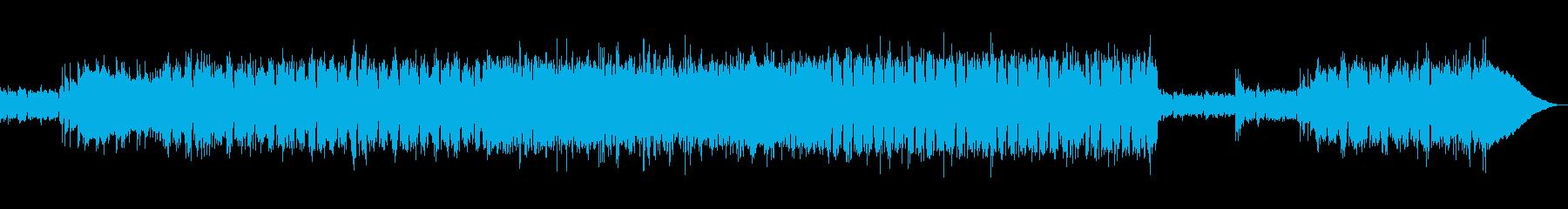 ライブ感あるストレートなロックの再生済みの波形