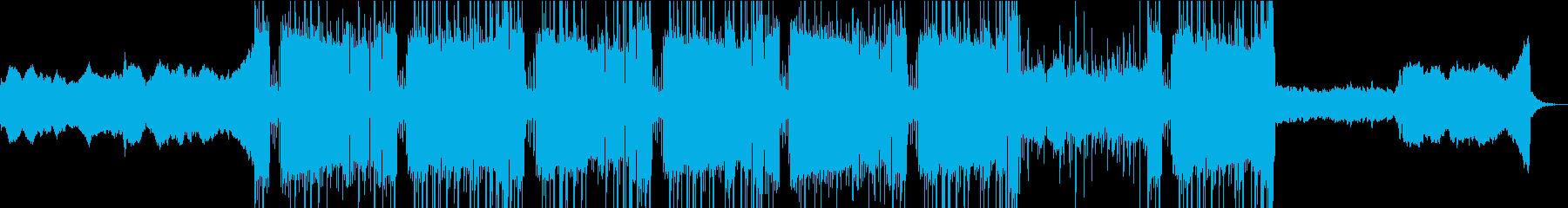 重低音、トラップ、ビートの再生済みの波形