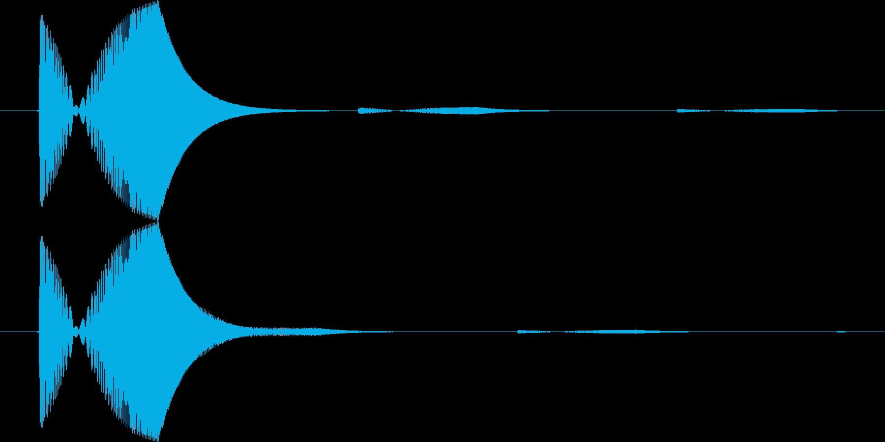 ゲーム・アプリSEカーソル移動の再生済みの波形