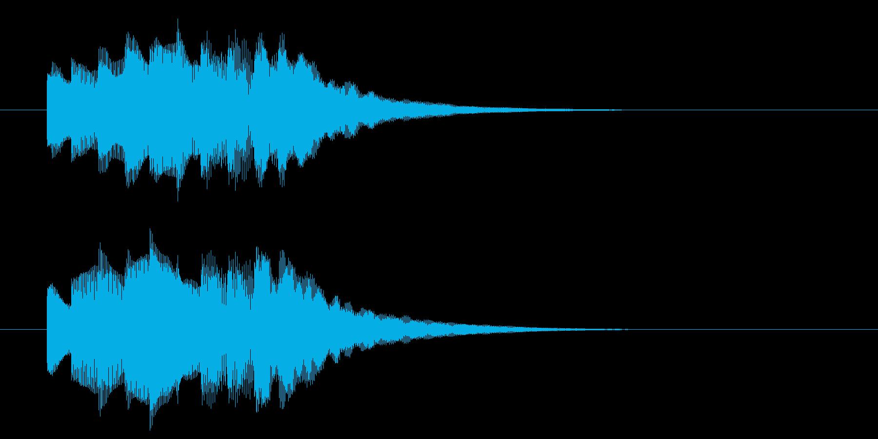 アイドルSE4 ノーマルカード入手 正解の再生済みの波形