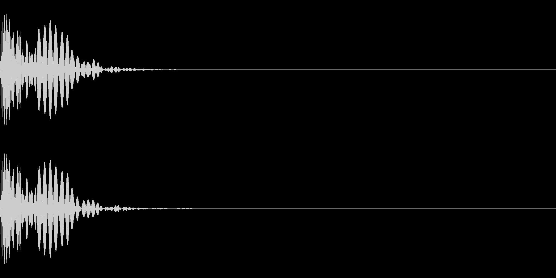 メープル材ドラムキット_キック01の未再生の波形