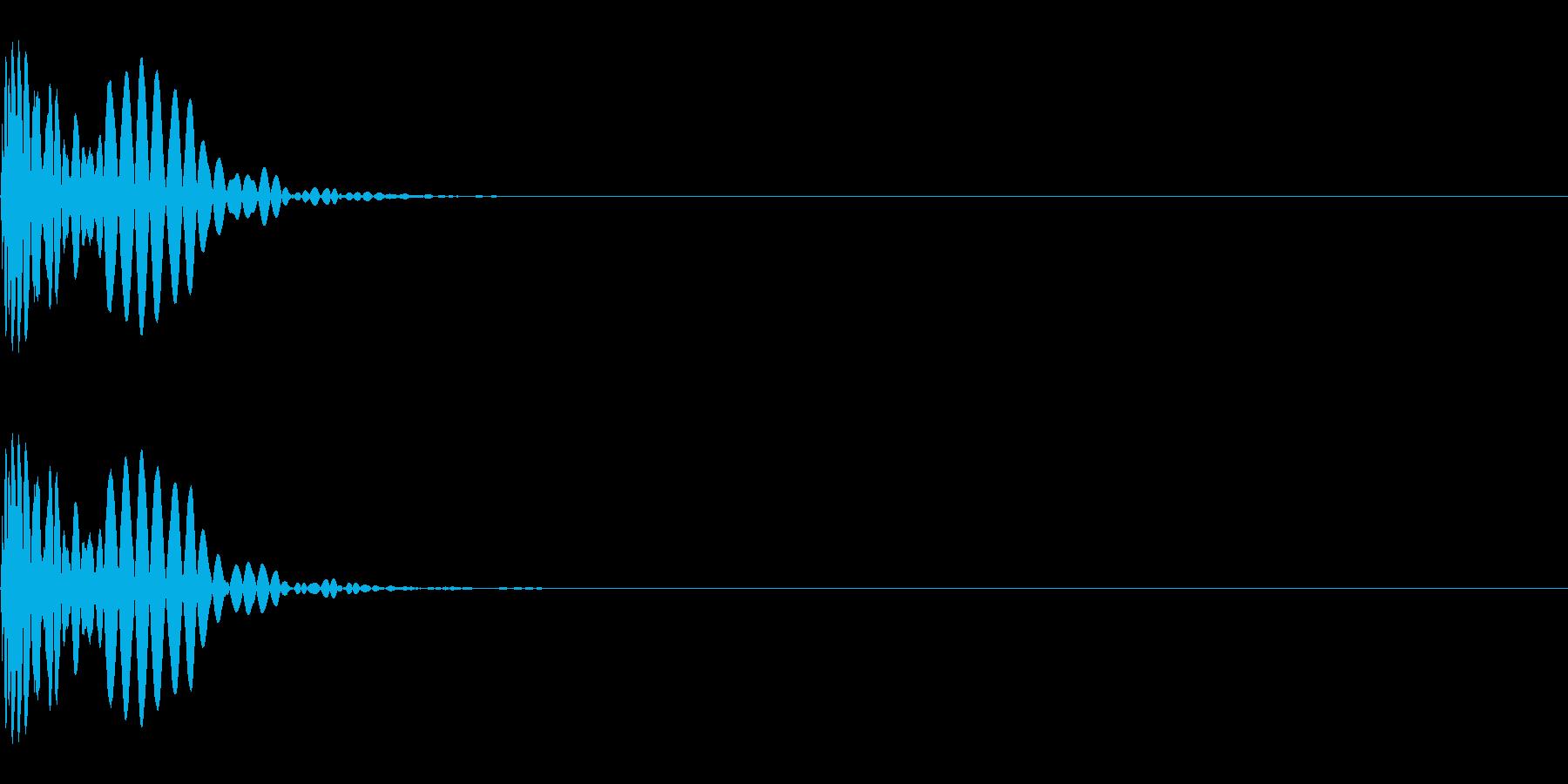 メープル材ドラムキット_キック01の再生済みの波形