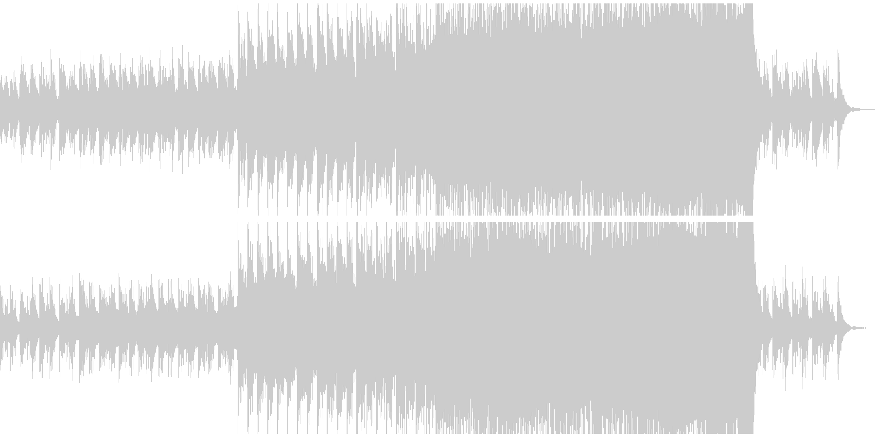 ピアノとエレキの旋律が印象的なバラードの未再生の波形