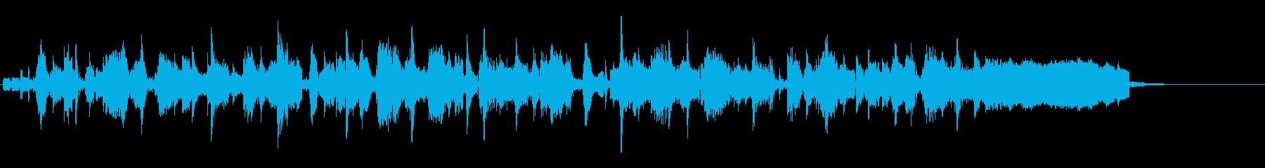 DJのスクラッチが特徴のLofiジングルの再生済みの波形