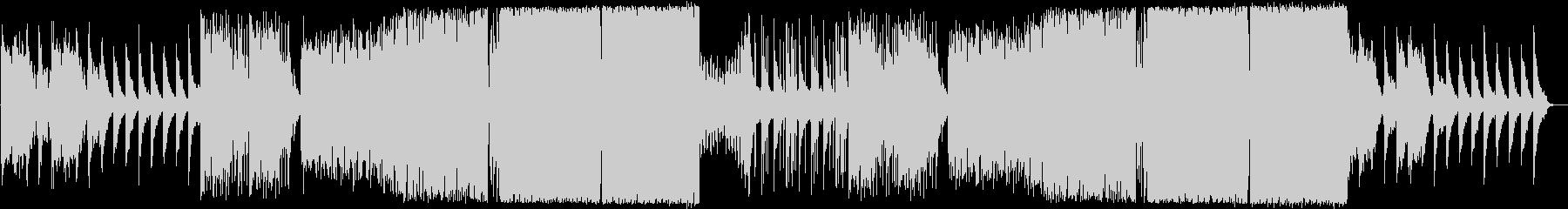 ピアノとボーカルチョップが爽やかなEDMの未再生の波形