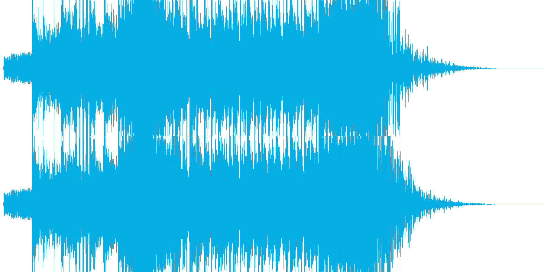 派手な登場ジングルの再生済みの波形
