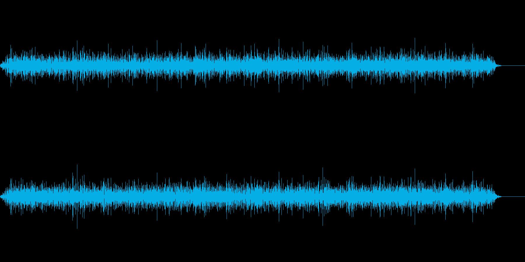 パチパチと火が燃える音(ロング)の再生済みの波形