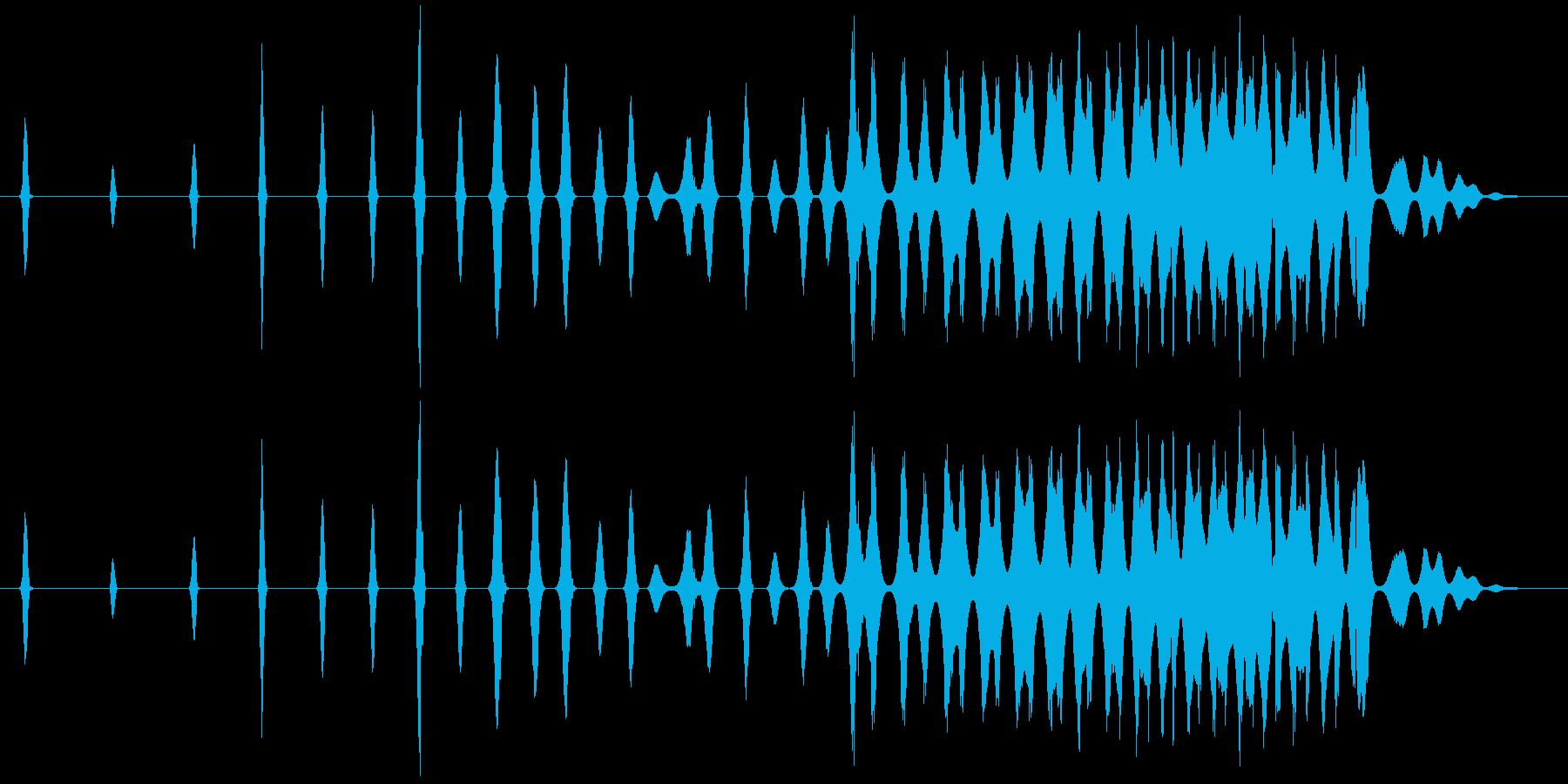 レトロなスワイプ、スペースシューッ...の再生済みの波形