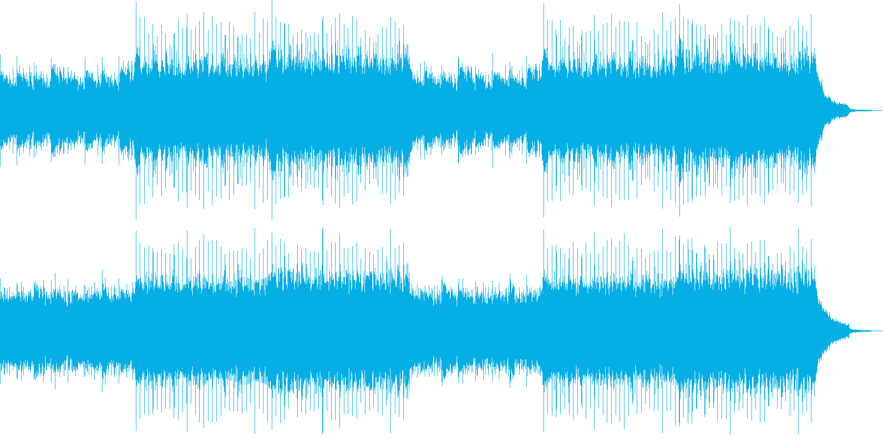 企業VP系132、爽やかアコギ4つ打ちaの再生済みの波形