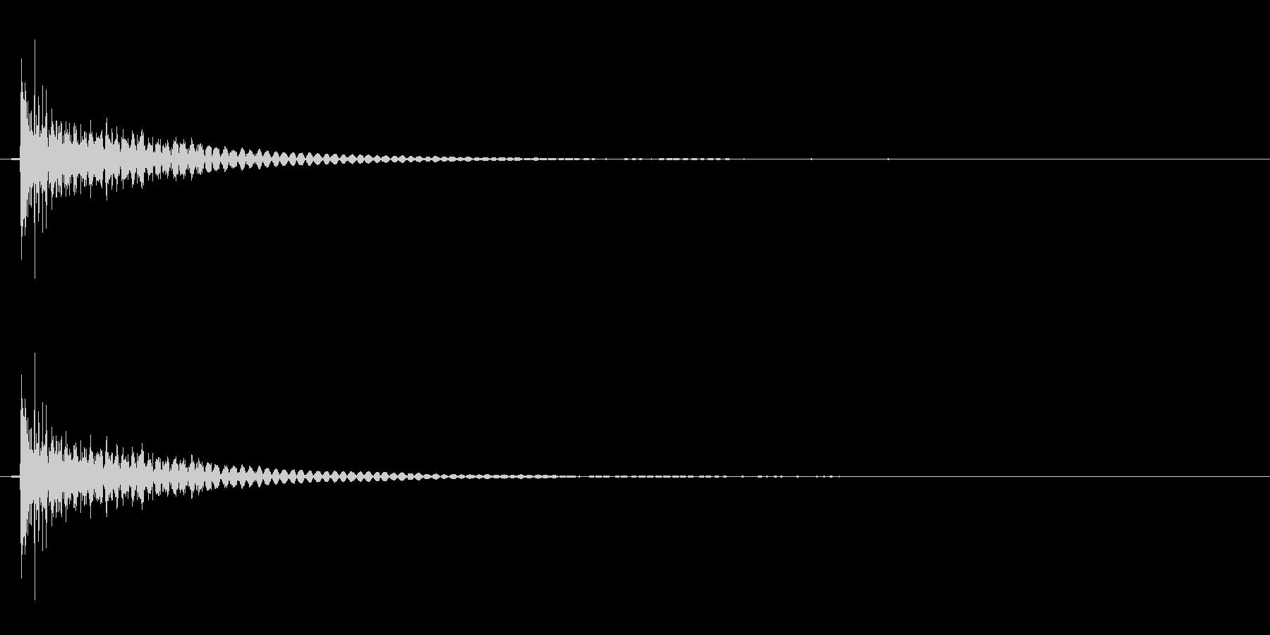 SF的な効果音「バシューン」の未再生の波形