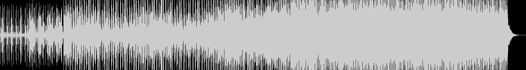 多数の打楽器を用いたポリリズムの曲の未再生の波形
