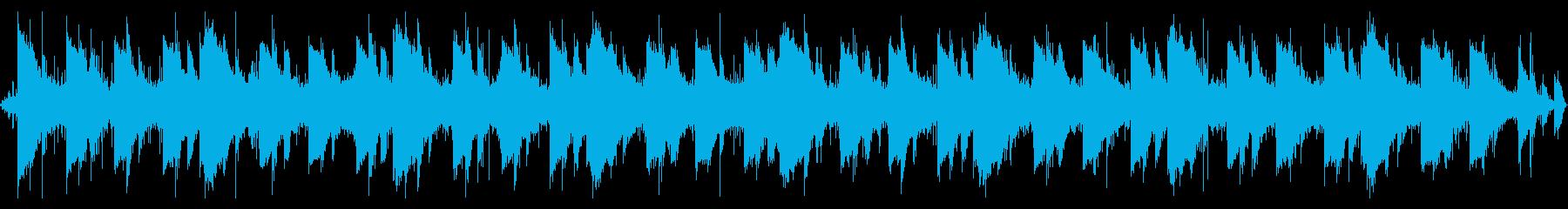 水の音と鳥の鳴き声、ヒーリング系BGMの再生済みの波形