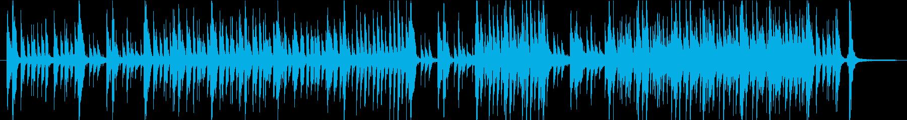 モーションアニメのためのジャジーなポップの再生済みの波形