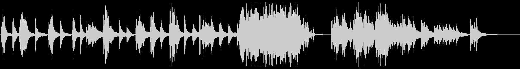 切なく燃え上がるピアノバラードの未再生の波形
