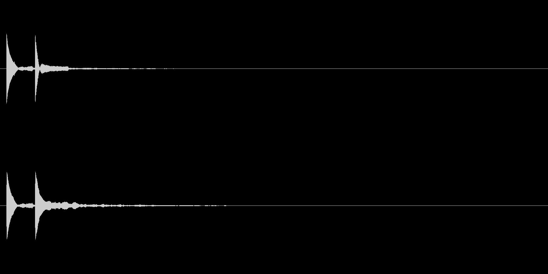 ボタン押した音 システム音 ピコッ2の未再生の波形