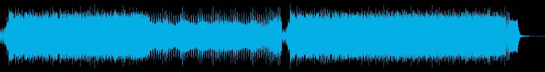 激しいロック盛り上がるアンセムの再生済みの波形