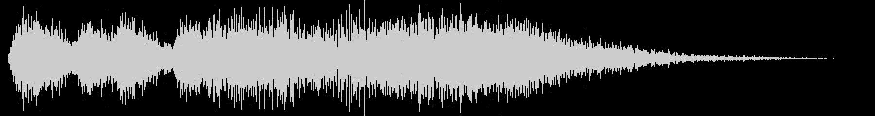 クラシックなイベント達成音ジングル5の未再生の波形