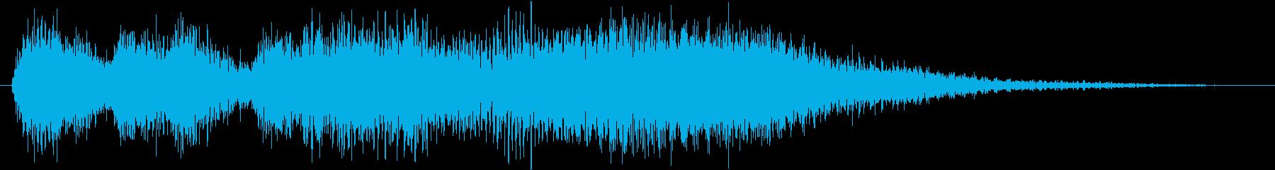 クラシックなイベント達成音ジングル5の再生済みの波形
