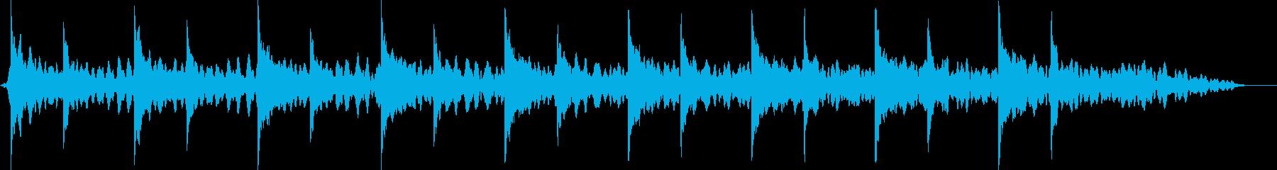 ピアノ音色による暗く陰鬱なイメージ曲の再生済みの波形