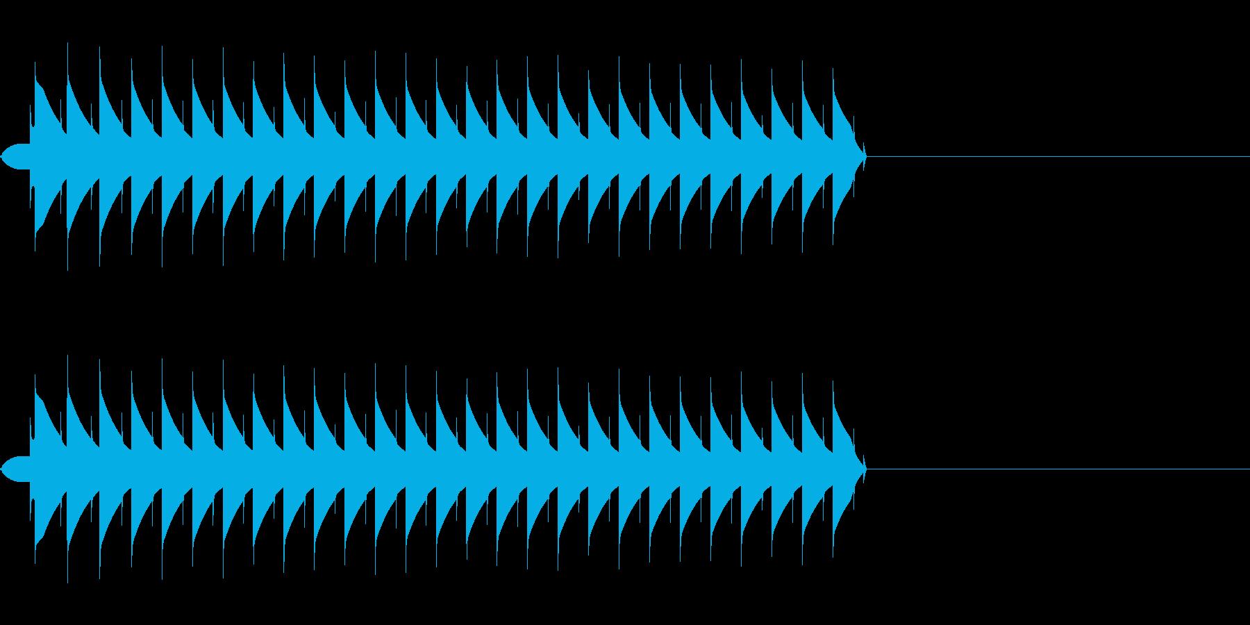 ブー(ミス、エラー、失敗、ファミコンの再生済みの波形