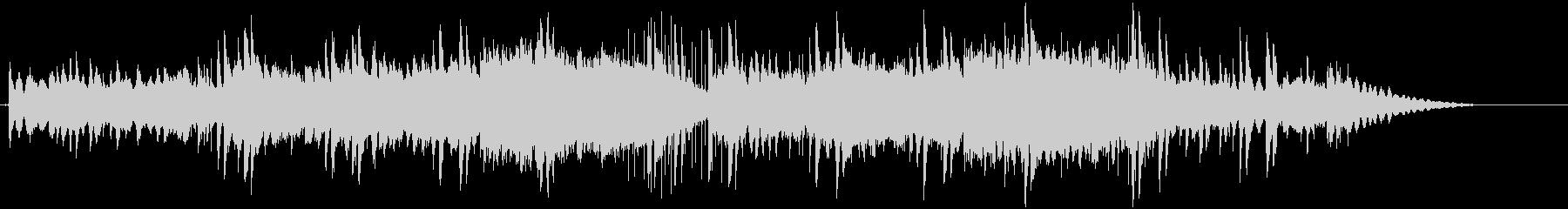 ピアノと柔らかなダブの未再生の波形