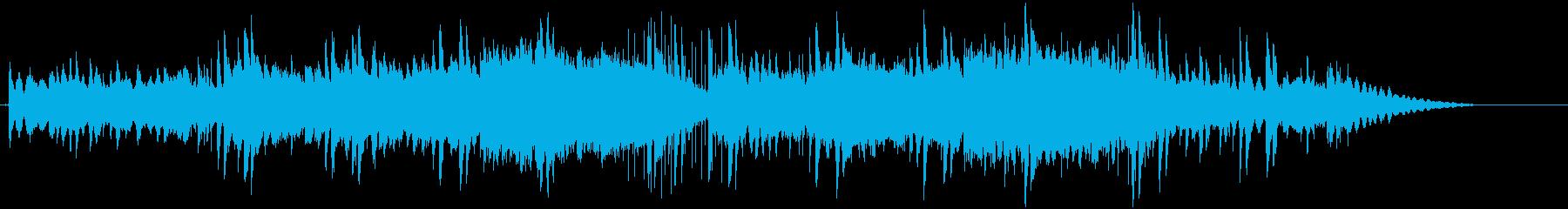 ピアノと柔らかなダブの再生済みの波形
