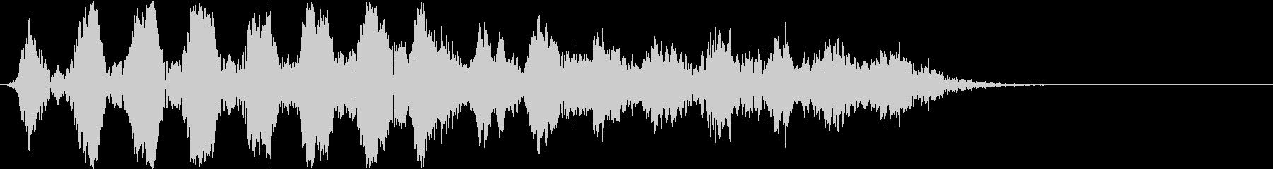 徐々にムクムク大きくなるイメージの効果音の未再生の波形