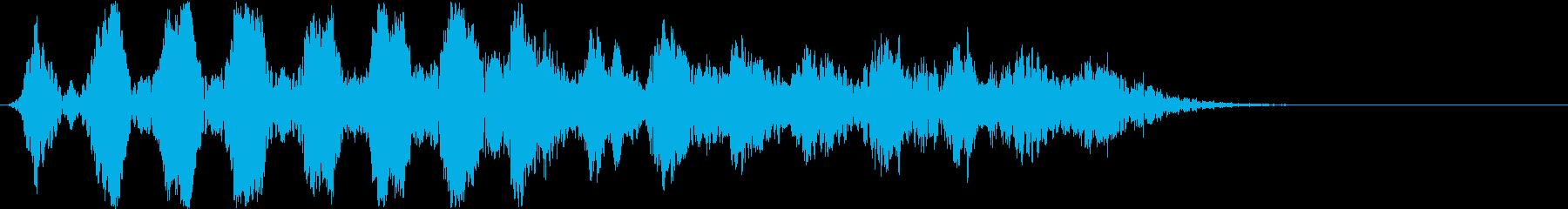 徐々にムクムク大きくなるイメージの効果音の再生済みの波形