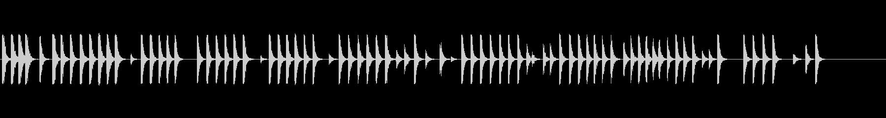 板金上のハンマー1の未再生の波形