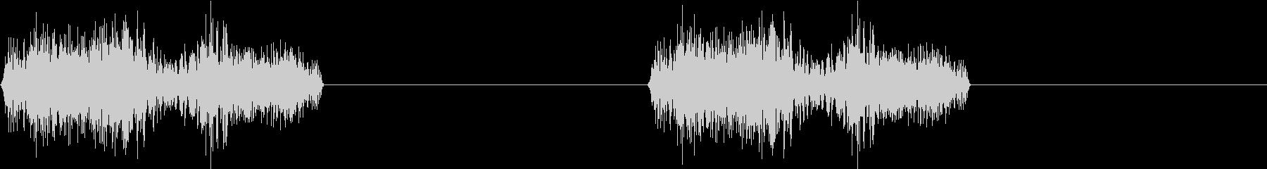 DJプレイ スクラッチ・ノイズ 74の未再生の波形
