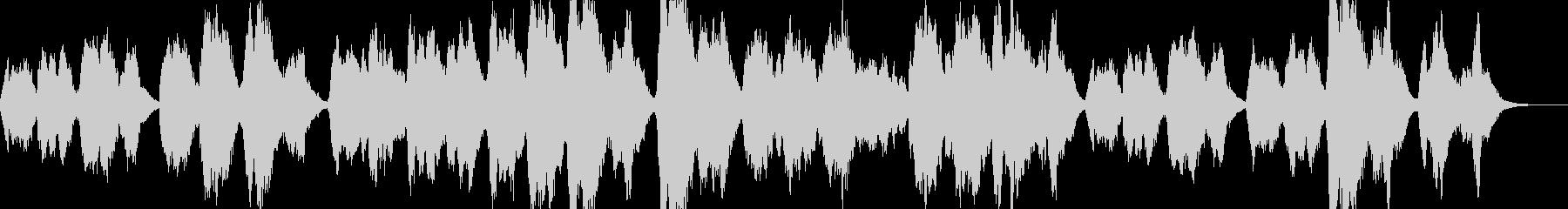 教会風ゴシックな雰囲気のBGMの未再生の波形