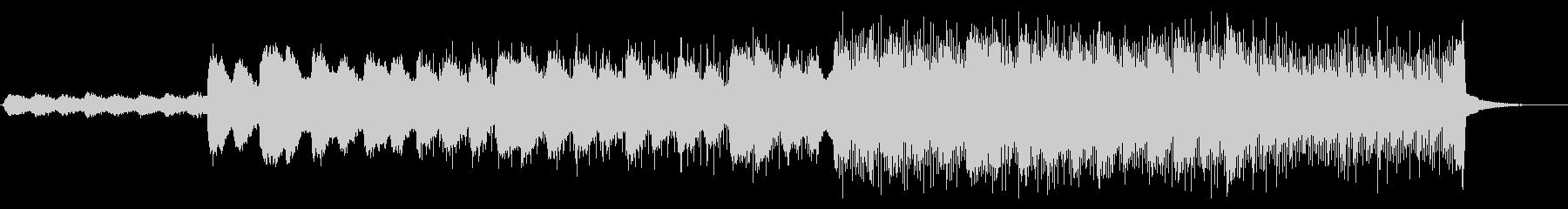 ゆったりとしたエレクトロニカBGMの未再生の波形