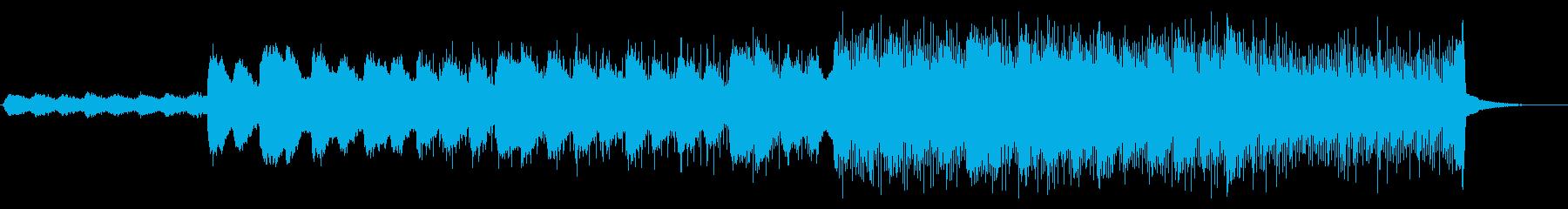ゆったりとしたエレクトロニカBGMの再生済みの波形