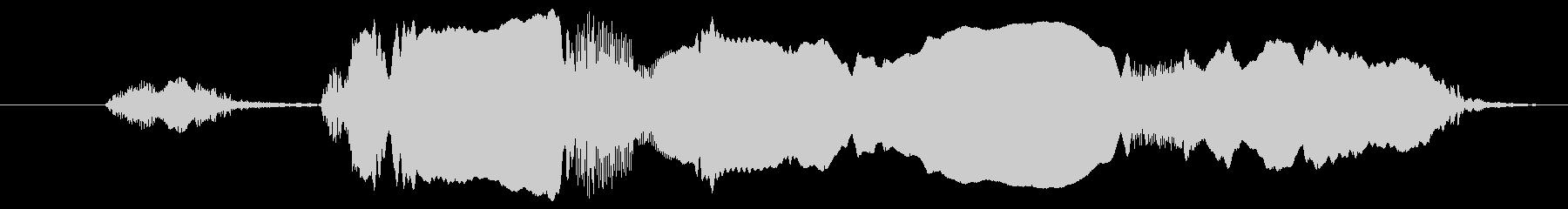 オンドリ:シングルコール、ニワトリ...の未再生の波形